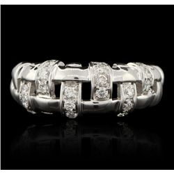18KT White Gold 0.50ctw Diamond Ring GB3076