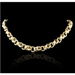 14KT Yellow Gold Link Style Fashion Necklace GB4144