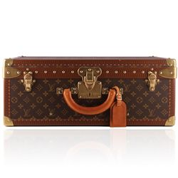 Authentic Louis Vuitton Monogram Alzer 55 Trunk LB33