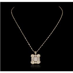 18KT Yellow Gold 2.35ctw Diamond Pendant with Chain GB2398