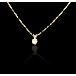 14KT Yellow Gold And Diamond Pendant With Chain GB3388