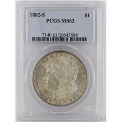 1882-S Morgan Silver Dollar PCGS Graded MS63 SCE1090