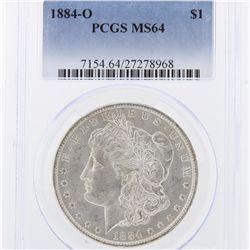 1884-O Morgan Silver Dollar PCGS Graded MS64 SCE1013