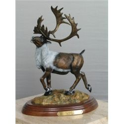 Limited Edition Bronze Sculpture of Caribou by Rick Taylor