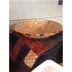 Carved Alder Burl Bowl by Guy Scott, Riverman Enterprises