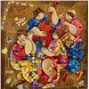 Image 1 : Dorit Levi, Festive Feast, Signed SS on Wood