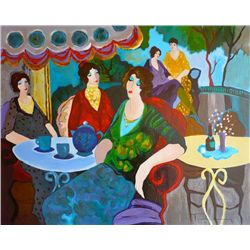 Itzchak Tarkay, Morning Tea, Signed Canvas Print