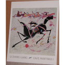 Li Zhong-Liang, Cave Paintings I Poster
