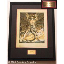 Red Dragon Framed Edible Red Dragon Print Prop