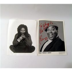 "Whoopi Goldberg/Fred ""Rerun"" Berry Signed Photos"