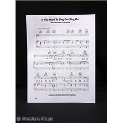 Charlie Bartlett Sheet Music Prop