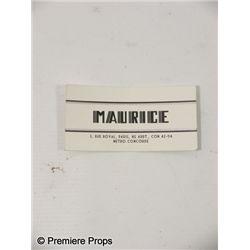 Inglourious Basterds Maurice's Restaurant Card