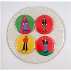 Beatles Yellow Submarine Original Set Of Buttons