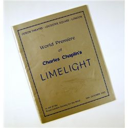 Limelight Original World Premiere Program & Chaplin Signature