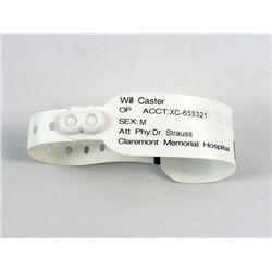 Transcendence Will Caster (Johnny Depp) Screen Worn Hospital Bracelet