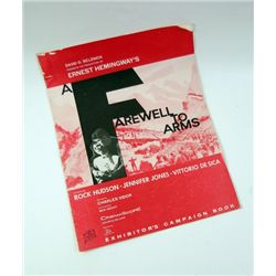 Farewell To Arms (1957) Exhibitor's Book