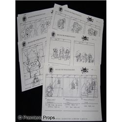 Around the World in 80 Days Animated Series Storyboard Movie Props