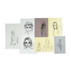 Big Eyes Margaret Keane (Amy Adams) Hand Drawn Sketches