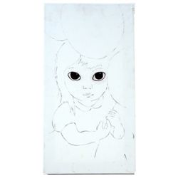 Big Eyes Margaret Keane (Amy Adams) Hand Drawn Sketch Movie Props