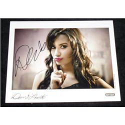 Demi Lovato Autographed Promo Card Movie Props