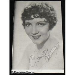 Claudette Colbert Autographed Photo Movie Props