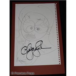 Cheyenne Jackson Autographed Drawing Movie Props
