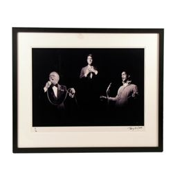 Terry O'Neill Signed & Numbers Frank Sinatra Dean Martin Sammy Davis, Jr. Photo