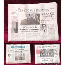 Resident Evil: Appocolypse The Raccoon Dispatch Newspaper Movie Props