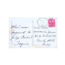 Tarquin Olivier Handwritten Postcard