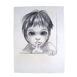 Big Eyes Margaret Keane (Amy Adams) Screen Used Sketch Movie Props