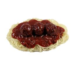 Two And A Half Men Rubber Spaghetti And Meatballs Prop