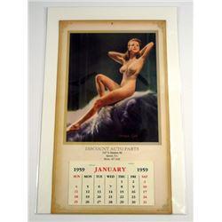 Pin Up Dream Girl 1959 Calendar