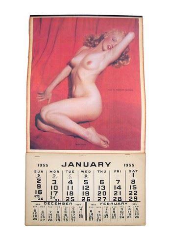 Marilyn Monroe Original 1955 Golden Dreams Full Nude Pin Up