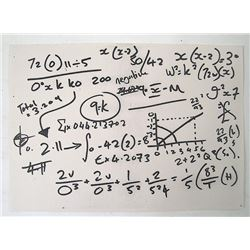 Red 2 Math Equation Movie props