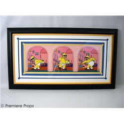 The Simpsons LE Giclee Painting Framed