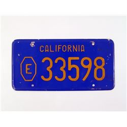 American Gigolo Police License Plate Prop