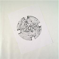 Prisoners Bob Taylor (David Dastmalchian) Hero Maze Drawing Movie Props