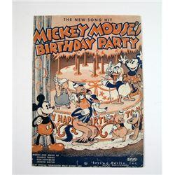Mickey Mouse's Birthday Party 1935 Program