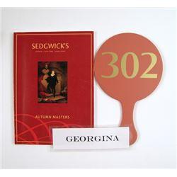 Mortdecai Georgina (Olivia Munn) Hero Auction Book/Paddle Movie Props