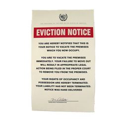 Falling Skies Season 3 New USA President Peralta (Gloria Reuben) Popetown Eviction Notice Movie Prop