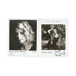 Crystal Gayle & Mary-Chapin Carpenter Signed Photos