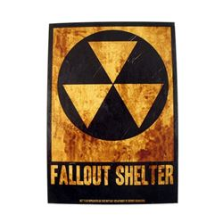 Man Down Fallout Shelter Sign Movie Props