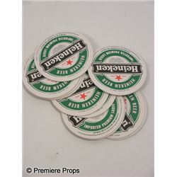 50/50 Heineken Coasters Movie Props