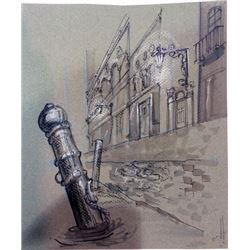 The League of Extraordinary Gentlemen Original Concept Sketches of Venice (2)