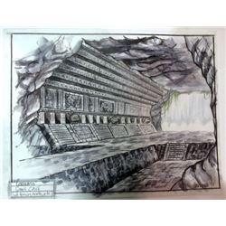 Coronado Original Concept Drawing of Rebel Hideout (Small Cave)