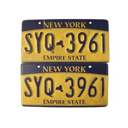 Southpaw Screen Used License Plates Movie Props