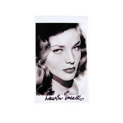 Lauren Bacall Autographed Photo Movie Collectibles