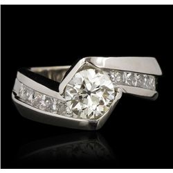 14KT White Gold 1.45ctw Diamond Wedding Ring GB4280