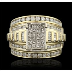 14KT Yellow Gold 1.00ctw Diamond Wedding Set GB3324
