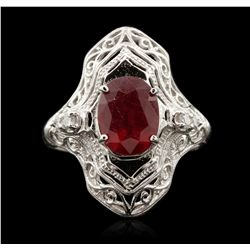14KT White Gold 2.78ct Ruby and Diamond Ring A6995